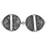 Кръгли пафти - патинирано сребро