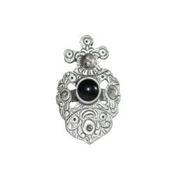 етно-пръстен с черен камък